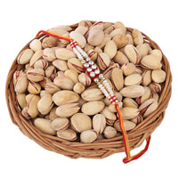 Pistachios Basket With Rakhi