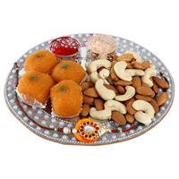 Silver Rakhi Thali