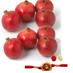 pomegranates with rakhi