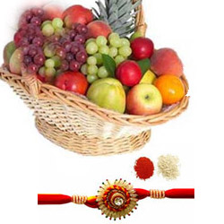 Fruits Basket with rakhi