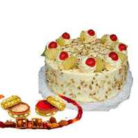 Rakhi with butter scotch cake