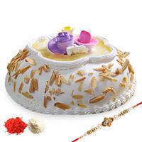 Almond Cake with Rakhi