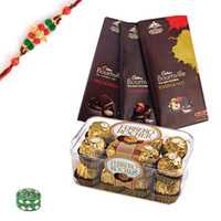 Enticing Chocolates with Rakhi to Rajahmundry