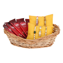Rakhi Basket For 5 Brothers