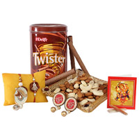 Twister & Dry Fruits Rakhi Treat