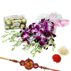 Rakhi Orchids N Chocolate