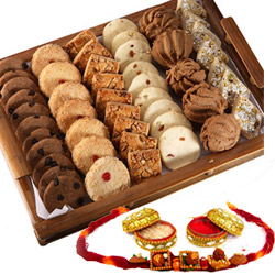 Rakhi with cookies