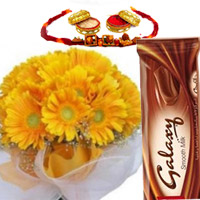 Rakhi with Gerbers