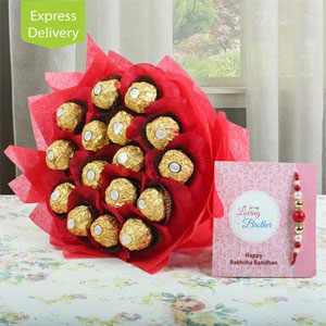 Rakhi With Chocolates  to Kakinada