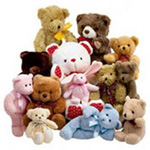 Teddies around Her