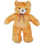 A huge Big teddy who can be a special friend to your loved ones in India. The Teddy has a knot round its neck which enhances its grandeur.