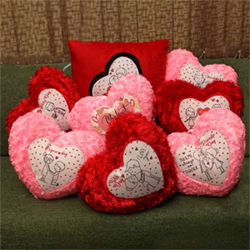 Set of 8 Love Cushions