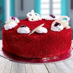 Red Velvet Heart Cake 1kg to Kakinada