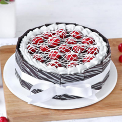 Cherry Filled Chocolate Cake