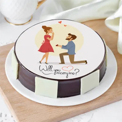 Delicious Proposal Cake (1 Kg)
