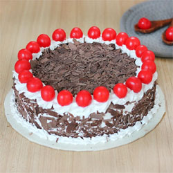 1 kg Black forest cake  to Kakinada