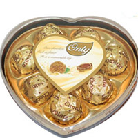 Only Heart shape chocolates - 8 pcs to Rajahmundry