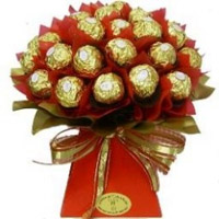 Ferrero Rocher chocolate bouquet (Midnight) to Vizag