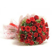 Red roses bunch to kakinada