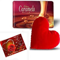 Heart Cusion with Cadbury Caramels
