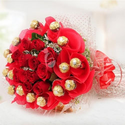 Rosy Rocher Bouquet