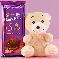 Teddy Bear & Fruit N Nut Silk