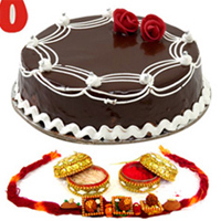 Rakhi and Cake to guntur